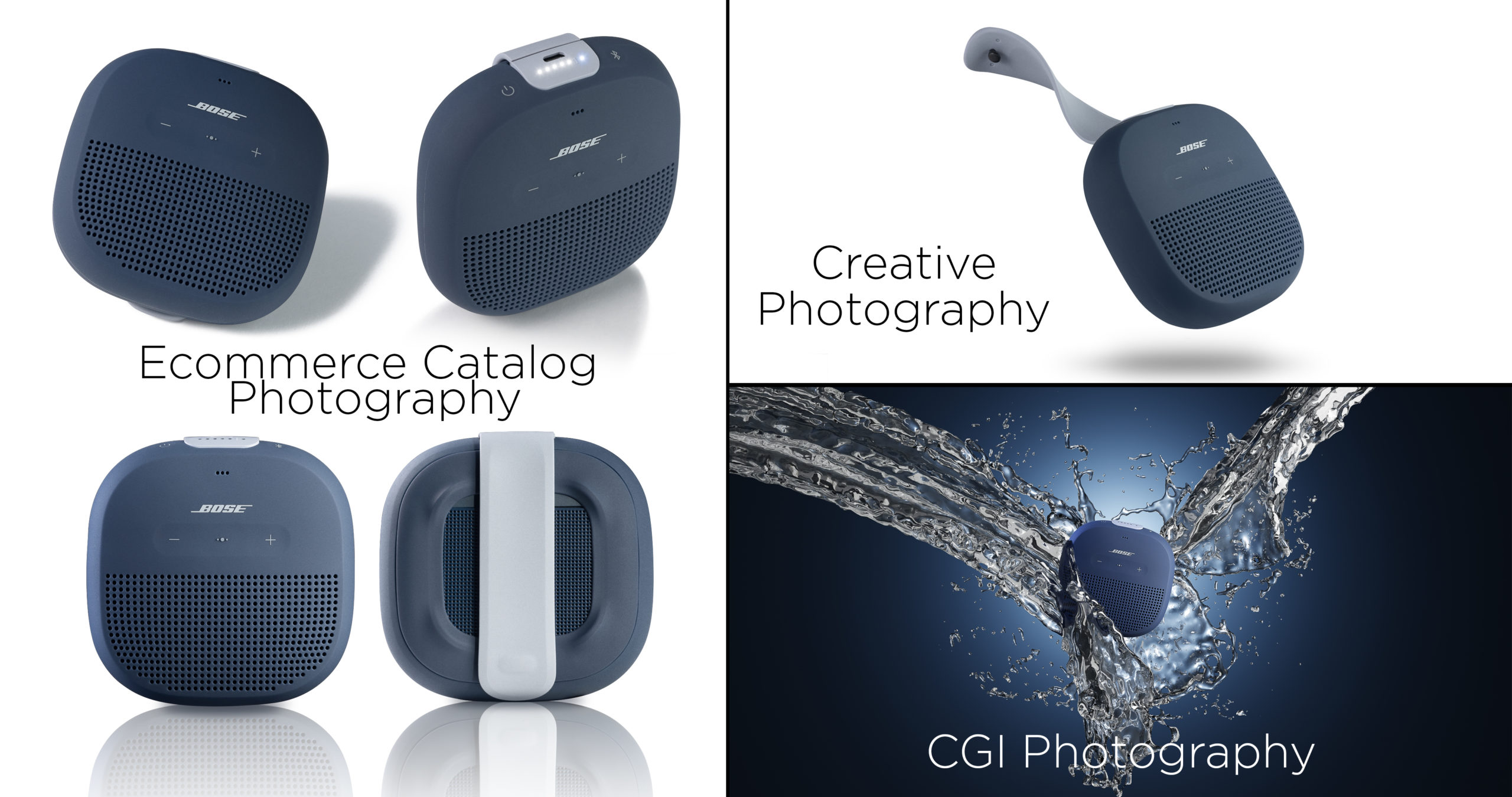 Difference between Ecommerce Photography Creative Photography and CGI Photography