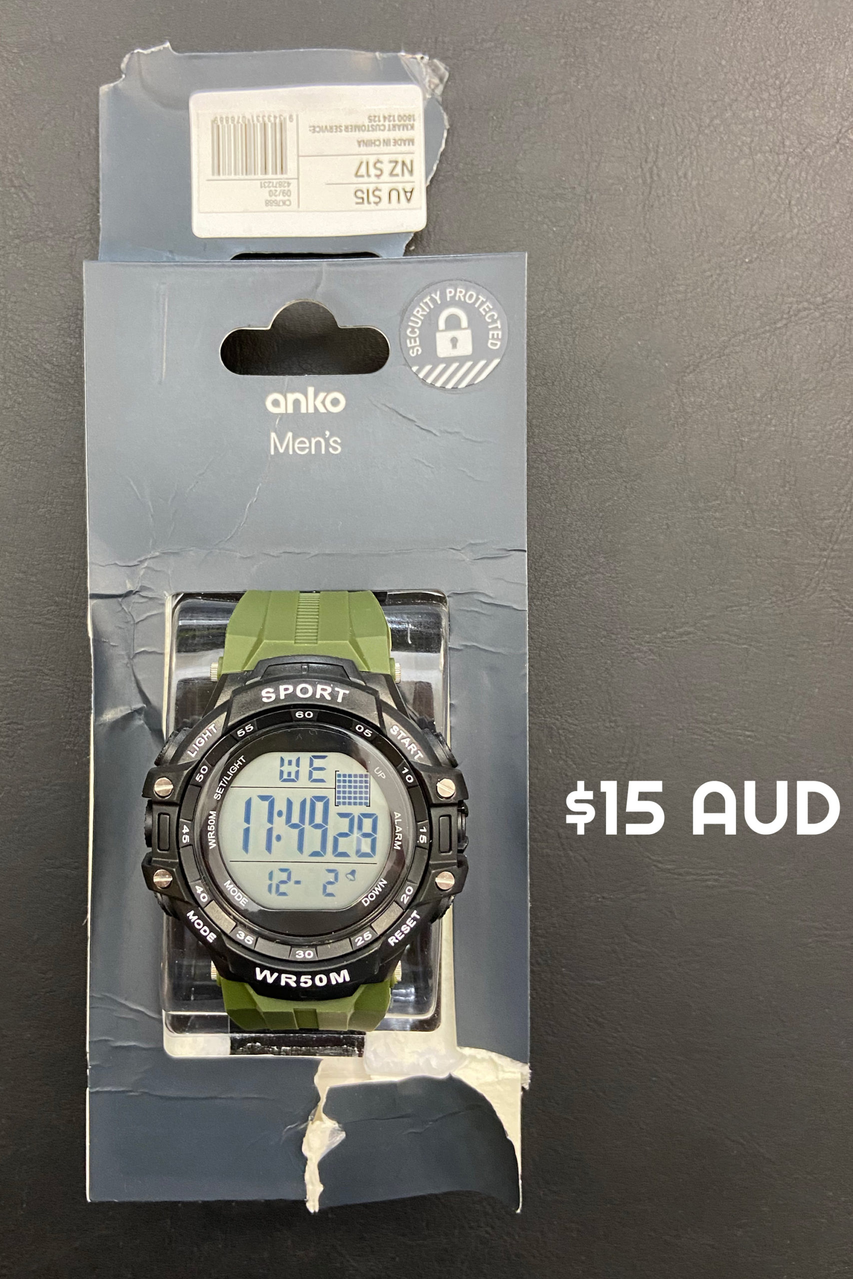 Poor example of Product Photography of Anko Watch BTS