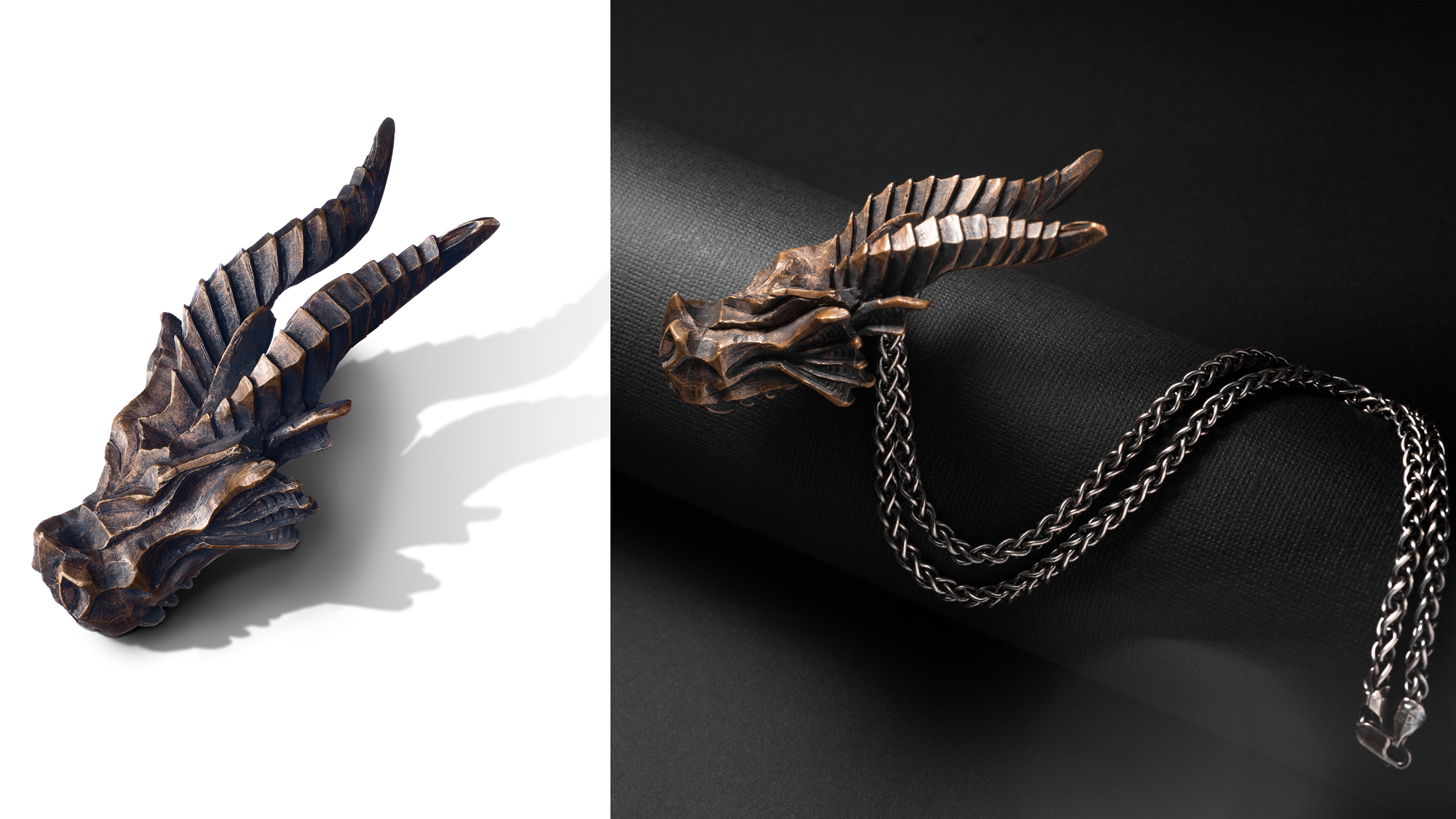 Wenbo Zhao-Creative Jewellery Photography and Premium Catalog Image-Bronze Dragon Nacklace