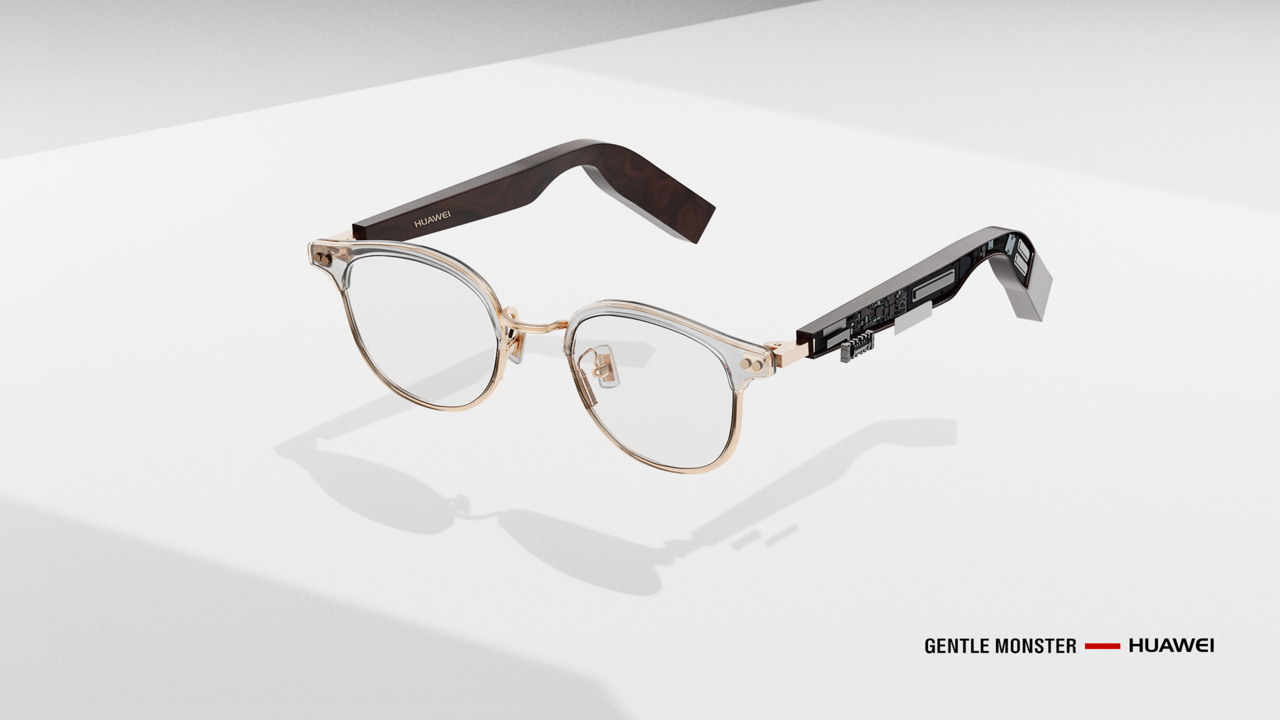 Wenbo CGI Project with HUAWEI Gentle Monster Glasseswith white enviroment