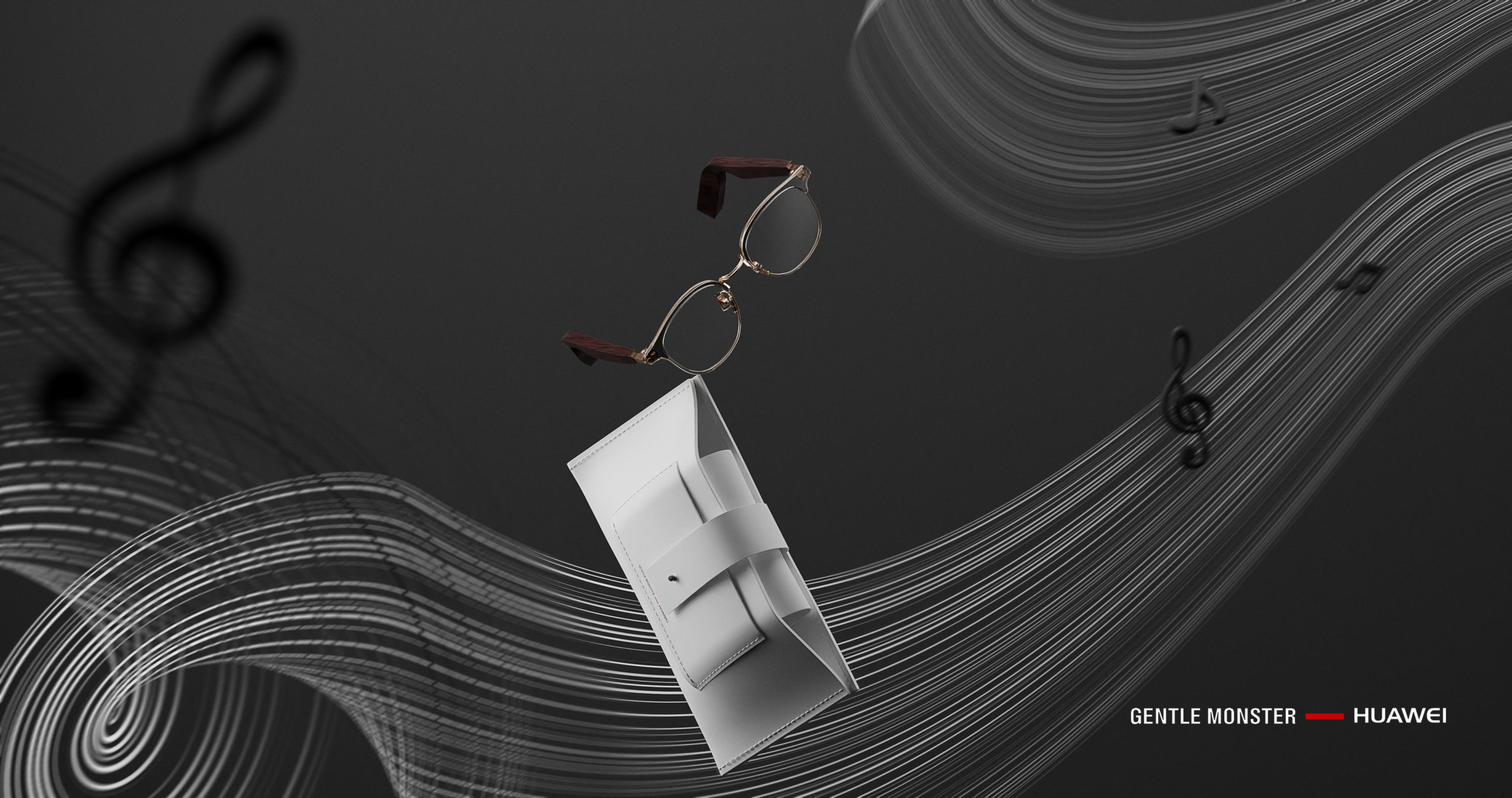 Product photographer Sydney Wenbo-CGI-Project-with-HUAWEI-Gentle-Monster-Glasses Dark background